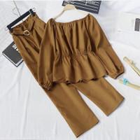 TRENDY [ COD ] Milea Set Daily | Setelan Baju Outfit Muslim Wanita l
