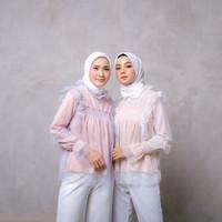 HOT Baju Grosir Fashion Wanita Muslim Atasan Blouse Pesta Vioni NEW