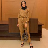 PROMO [ COD ] Squilby Js Jumpsuit | Outfit Baju Muslim Wanita