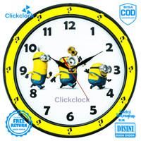 Jam Dinding Quartz Anak Doraemon Hello Kitty Keropi Esa 334 Besar