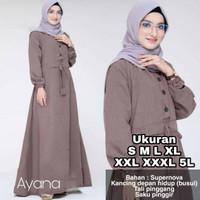 HOT Ayana Dress - UKURAN S M L XL XXL XXXL 5L - BAJU GAMIS JUMBO -