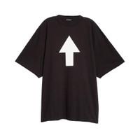 Balenciaga Tshirt Logo No Wifi Black Man