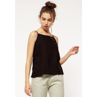 Colorbox Camisole With Button Details I-Ttwkey121C037 Black