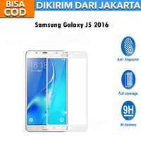 Tempered Glass Samsung Galaxy J5 2016 J510 FULL COVER 9D Anti Gores