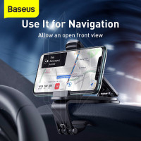 PROMOSI BASEUS Mouth Car Mount Phone Holder Dashboard Mobil Universal