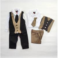 Baju Anak Bayi laki laki lucu Setelan Jas Tuxedo Anak Bayi Harvey