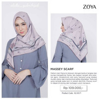 Zoya Massey Scarf - Kerudung Voal Segiempat Motif - Hijab Murah
