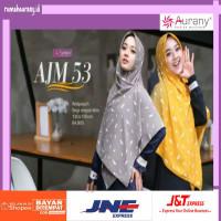 AJM 53 Aurany Jilbab Motif segiempat segi empat square hijab kerudung