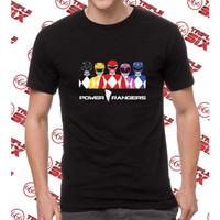 Kaos Baju Distro Fashion Distro Power Rangers Keren Satria
