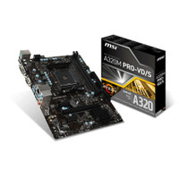 TERL4RIS MSI A320M PRO-VD S AMD A320 AM4 DDR4 Micro ATX Motherboard GH