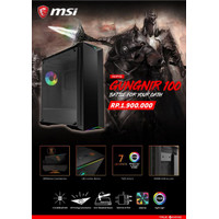 MSI MPG GUNGNIR 100 - Mid Tower Gaming Case with Mystic Light