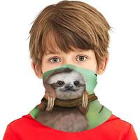 Kids Magic Headwear Face Mask, Baby Sloth Outdoor Youth Headbands Band