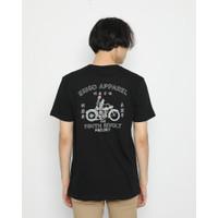 Kaos Pria Erigo T-Shirt Japan Fun Ride Cotton Combed Black - S