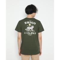 Kaos Pria Erigo T-Shirt The Wolf Cotton Combed Olive