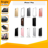 Ringke Casing iPhone 8 Plus 7 Plus Slim Onyx Anti Crack softcase