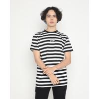 Kaos Pria Erigo T-Shirt Stripe Hilko Cotton Combed Black - S