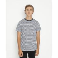 Kaos Pria Erigo T-Shirt Stripe Sceriel Cotton Combed Navy - S