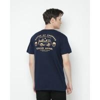 Kaos Pria Erigo T-Shirt Custombike Cotton Combed Navy