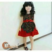 baju dress batik 3-4 tahun anak perempuan pakaian pesta bayi cewe