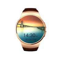 KingWear KW18 Smartwatch Phone Round Dial MTK2502 Music Pedo.-.OLB1884