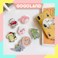 Gogoland R185 Popsocket Glitter Liquid Karakter Bubble Tea Pop Socket