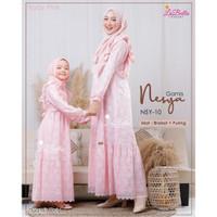 TERBUKTI NSY 10 Baju Muslim Gamis Couple Ibu Anak Labella Brukat Nesya