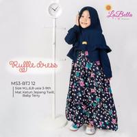 TERB4RU 3-9 Tahun BTJ 12 Navy Baju Muslim Gamis Anak LaBella Kajep Bol