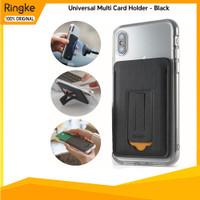 Ringke Magnetic Multi Card Holder Car Mount Handhphone Standing Black