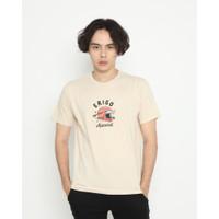 Kaos Pria Erigo T-Shirt Save Cotton Combed Cream - S