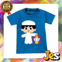 Baju Atasan / Kaos Anak Laki-laki Lebaran anak soleh biru 1-10 Tahun