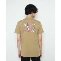 Kaos Pria Erigo T-Shirt Endless Sleep Cotton Combed Khaki