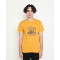 Kaos Unisex Erigo T-Shirt Tropical Ride Mustard