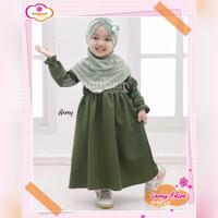 TERBUKTI Gamis Anak Perempuan Adem Army - Dress Baju Muslim Anak Cewek