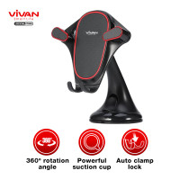 VIVAN CAR HOLDER UNIVERSAL WASHABLE WHEEL LOCK SUCTION CUP CHS07