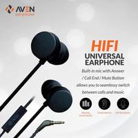 Earphone AVEN N18 Sport Sound Nylon Headset Cable Premium-Black