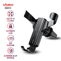 VIVAN CAR HOLDER UNIVERSAL AC MOBIL STAND IN CAR AIR VENT ALUMINUM