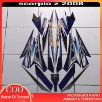 Decal striping motor scorpio z 225 2008 silver-biru Terlaris Terbaru T