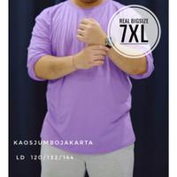 kaos jumbo lengan panjang lilac LD 120 132 144 kaos polos ungu