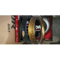 Velg TDR U shape 215 dan 250 ring 17 Set Sepasang gold hitam