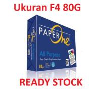 TERB4RU Paper One F4 80G - Kertas HVS F4 Ukuran 80G - Paper One 80G F4