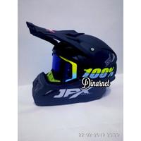 Helm Cross Jpx Trail Trabas Klx Black Dof Solid Kacamata Goggle Yel