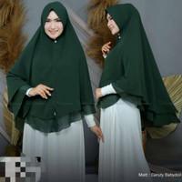 TERL4RIS kerudung syari bahan ceruti jilbab dewasa jumbo RGN