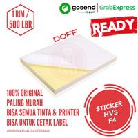 NEW Kertas Stiker HVS F4 - isi 500 lbr Kertas Stiker Sticker HVS Doff