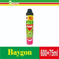 Baigon Anti Nyamuk, Lalat & Kecoa 600 + 75 ml Flower Garden Diskon