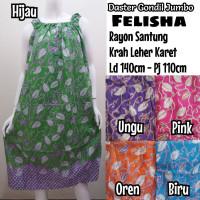 NEW Daster Batik Soloan Tanpa Lengan/Baju Tidur Wanita Super Jumbo