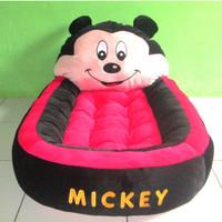 Matras / kasur tempat tidur bayi karakter boneka mickey mouse bahan