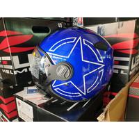 Promo ZEUS Helm zs 210 BLUE Star Diskon
