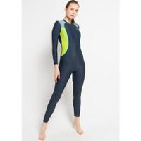 Opelon - Pakaian Renang Wanita - Ladies Long Diving Grey Indigo