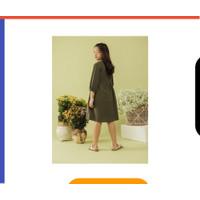 Sunny Dress - Army LEWIS EMMA dress lengan panjang anak linen TKPY