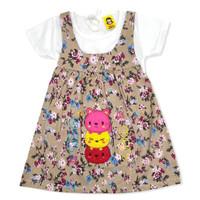 Baju Setelan OverAll Dress Anak Perempuan Katun 6-12 Bulan 3 Cat